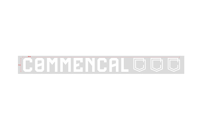 COMMENCAL TRADITIONAL STICKER 30CM WHITE