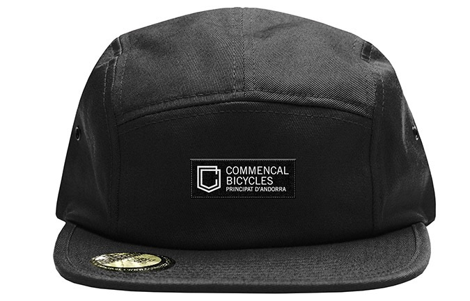 COMMENCAL SHIELD FIVE PANEL CAP BLACK
