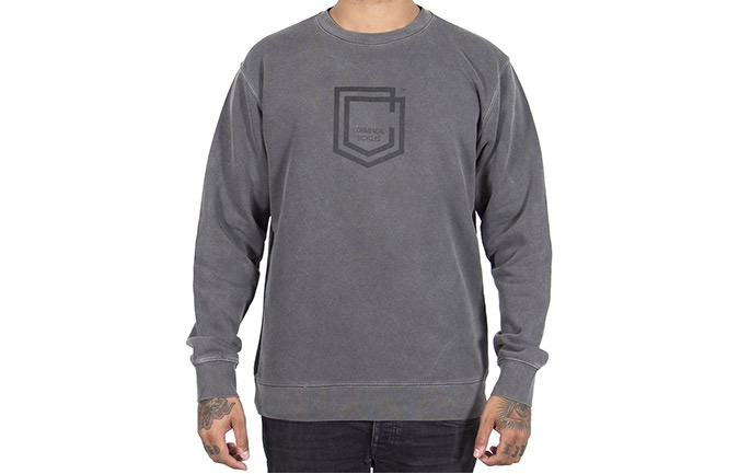 COMMENCAL SHIELD CREWNECK PIGMENT BLACK