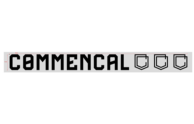 COMMENCAL TRADITIONAL STICKER 70CM BLACK