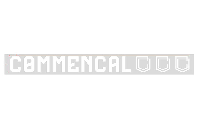 COMMENCAL WINDOW STICKER 70CM WHITE