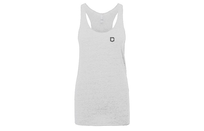 COMMENCAL GIRL SHIELD TANK TOP HEATHER WHITE 2019