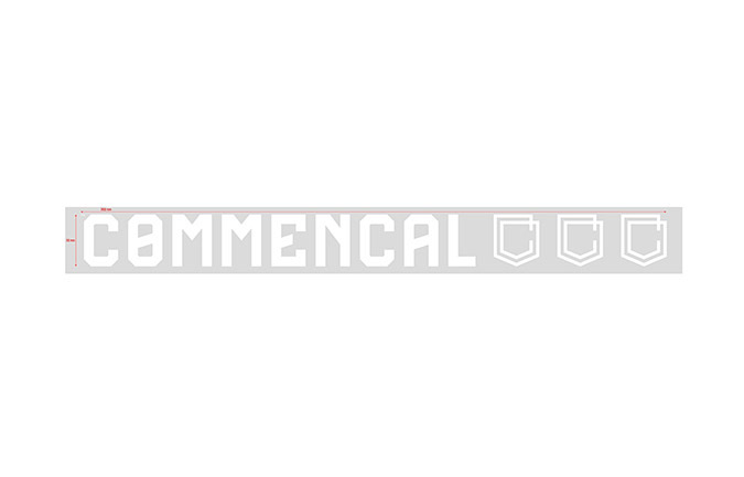 COMMENCAL WINDOW STICKER 30CM WHITE