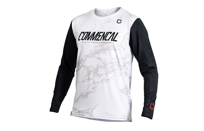 COMMENCAL LONG SLEEVE JERSEY WHITE
