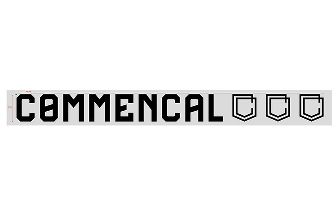 COMMENCAL WINDOW STICKER 70CM BLACK