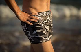 BOXER CAMO BLACK SHORT