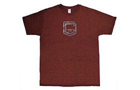 COMMENCAL SHIELD T-SHIRT BURGUNDY 2019