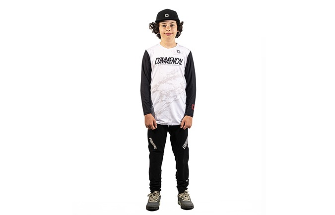COMMENCAL KIDS AMAURY JERSEY WHITE