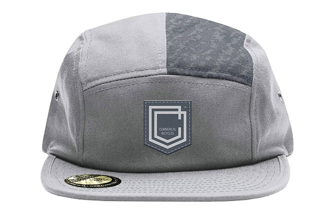 COMMENCAL SHIELD FIVE PANEL CAP GREY