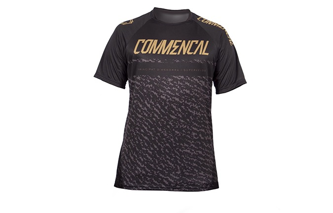 COMMENCAL SHORT SLEEVE JERSEY BLACK/GOLD