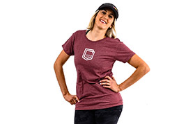 COMMENCAL GIRL SHIELD T-SHIRT BURGUNDY