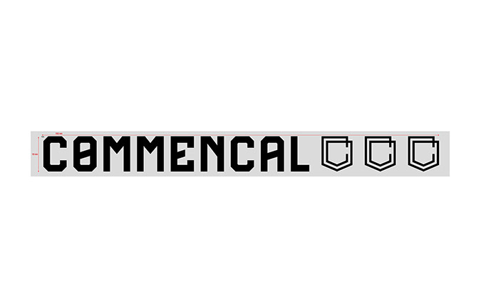 COMMENCAL WINDOW STICKER 30CM BLACK